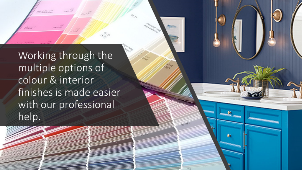 colour and finishes selection