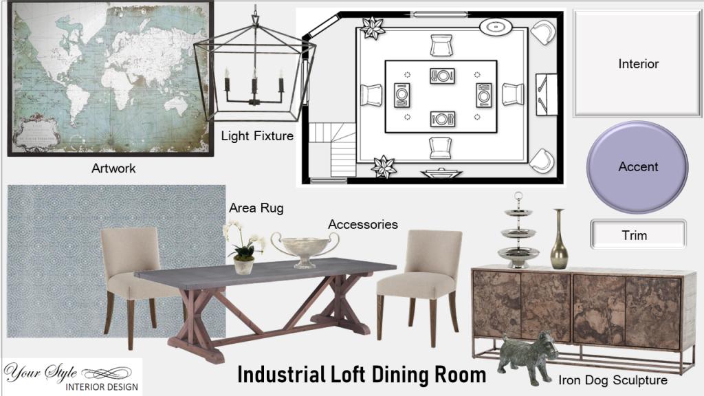 Industrial Loft Dining Room